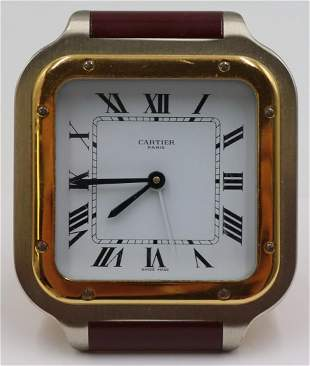 Cartier Santos Desk Clock.