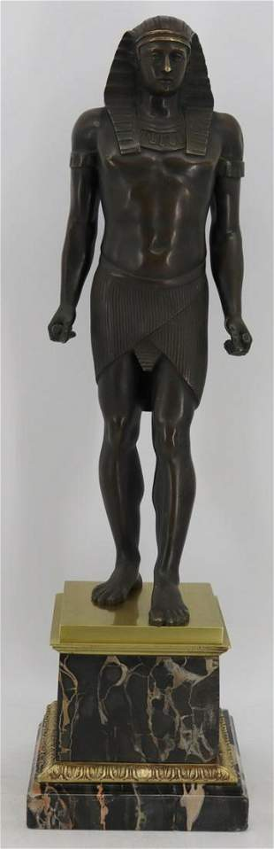 Large 19th C French Patinated Bronze Model of