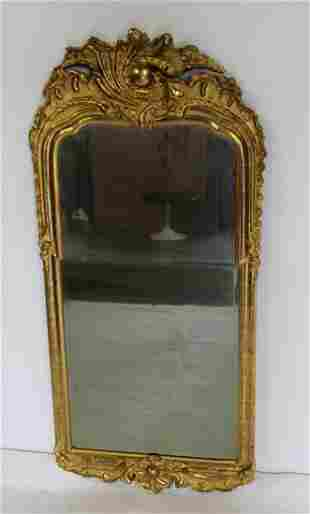 18th Century Continental Carved & Giltwood Mirror.