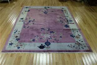 Vintage And Finely Hand Woven Chinese Carpet.