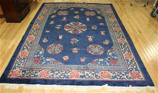 Art Deco Style Finely Hand Woven Chinese Carpet.