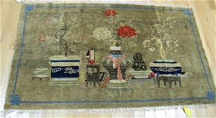 Vintage And Finely Hand Woven Chinese Pictoral