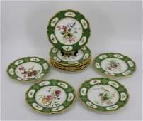 12 Royal Worcester Porcelain Plates.