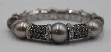 JEWELRY. G. Verdi 18kt Gold, Diamond, and Pearl