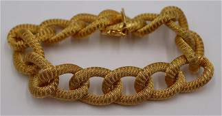 JEWELRY. Signed Italian 18kt Gold Link Bracelet.
