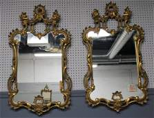 A Quality Pr Of Antique Carved & Giltwood Mirrors
