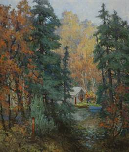 W. A. Drake Oil On Canvas Forest Scene.