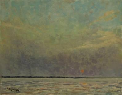 W. A. Drake Signed Oil On Board Seascape.
