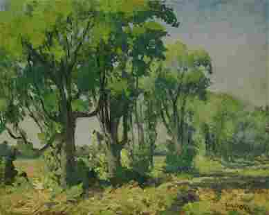 W. A. Drake Signed Oil on Board Landscape.