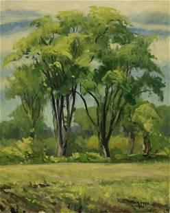 W.A. Drake Signed Oil on Canvas Landscape.