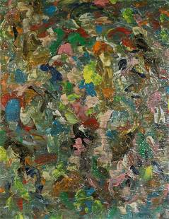 Hyunsoo Kim Signed Abstract Oil on Canvas.
