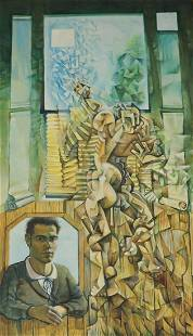 Apparently Unsigned Oil on Canvas Cubist