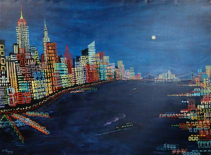 Roz Tanzman Signed Oil on Canvas