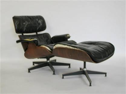 Midcentury Charles And Ray Eames Rosewood Lounge