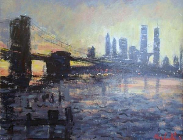 "502: UNKNOWN. O/B ""Lower Manhattan & Brooklyn Bridge at"
