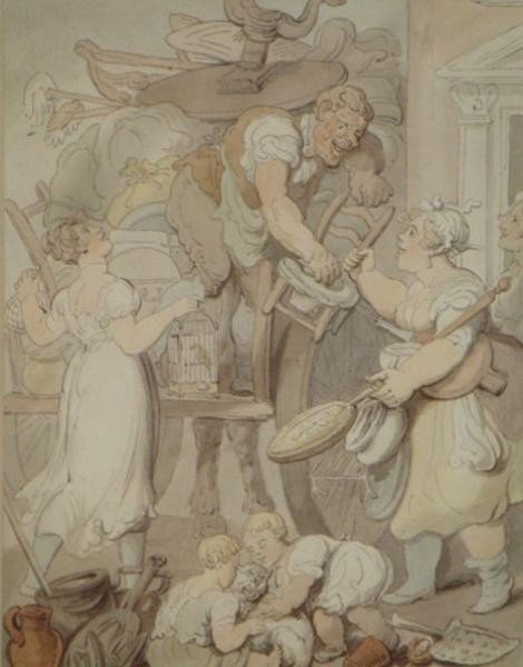 """513: ROWLANDSON, Thomas. W/C """"Quarter Day or Clearing"""
