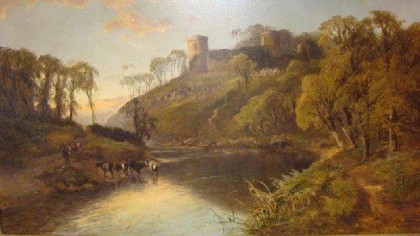 519: SYER JNR., John. 1880 O/C Welsh Castle Overlooking