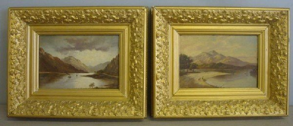523: SELLON, William. Pair of 1891 O/B Landscapes.