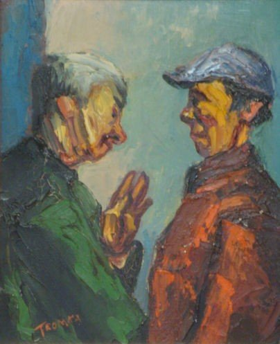 81: TROMKA, Abram. O/B of Two Men in Conversation.