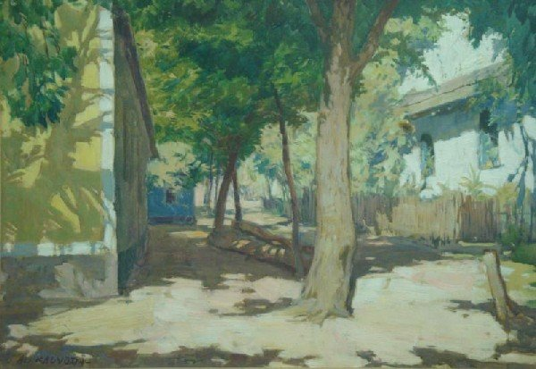 84: KALVODA, Alois. O/B Houses Among Trees.