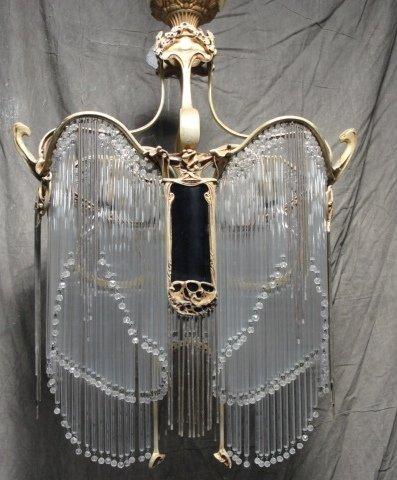 123: Signed Hector Guimard Art Nouveau Gilt Bronze and