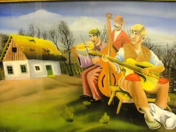 73: POSOVEC, Terezo. 1969 Reverse Painting on Glass.