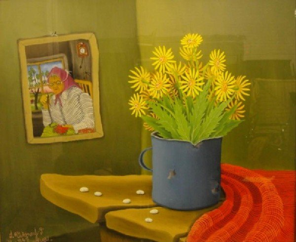 74: VECENAJ, Ivan.  Reverse Painting on Glass.