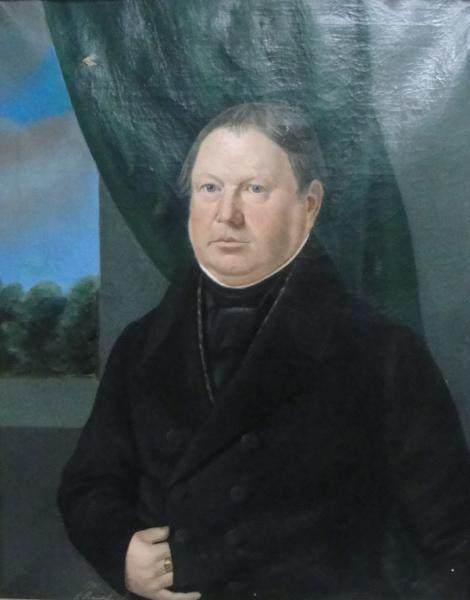70: RAUCHNER, J. 1841 Oil On Canvas Portrait of a