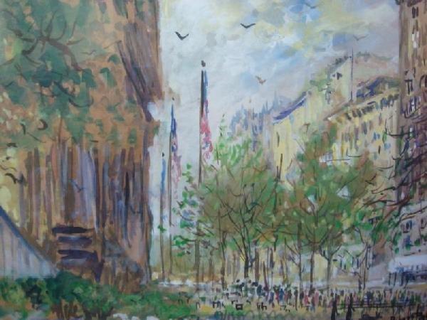 69: PATTERSON, Robert. 3 Framed Watercolors.