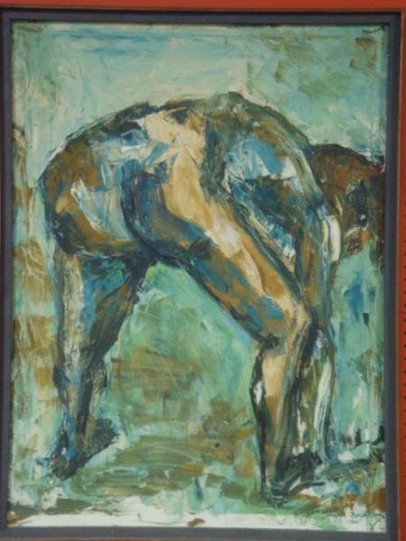 78: BARRON, Don. Midcentury Oil on Canvas of Nude