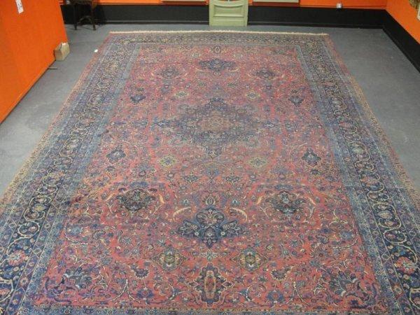 185A: Palace Size Handmade Kashan Carpet.