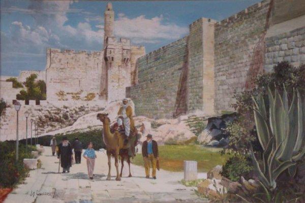 67: Oil on Canvas of Jerusalem.