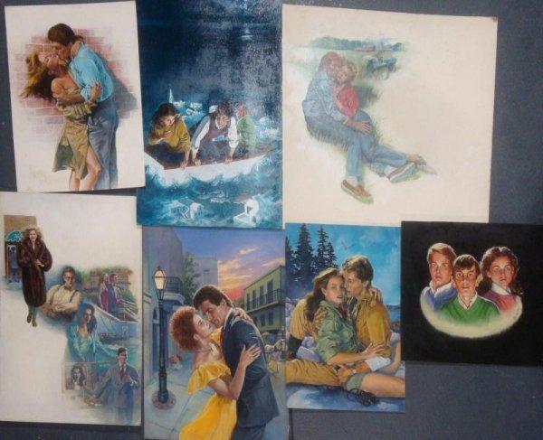 68: CHRISTIE, Ken. Lot of 7 Assorted Illustrations on