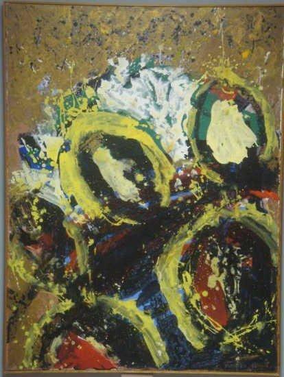 """3: WAKAKO. 1984 Acrylic on Canvas """"Tsubomi"""""""