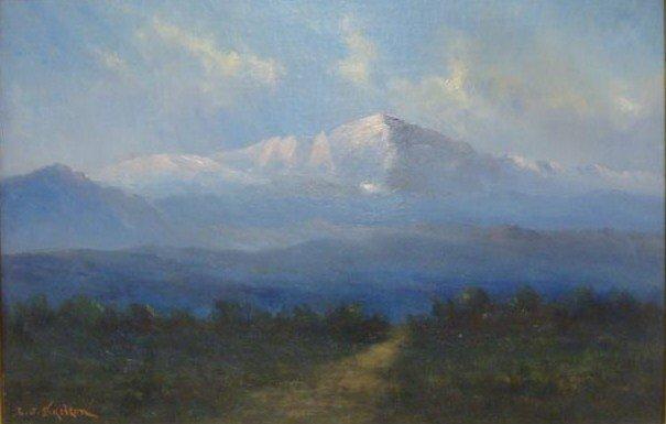 "4: SKELTON, L.J.  O/C ""Dawn in Pikes Peak Colorado"""
