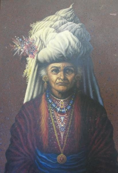 6: Wolff. Theodore F. Oil on Canvas of an Indian.