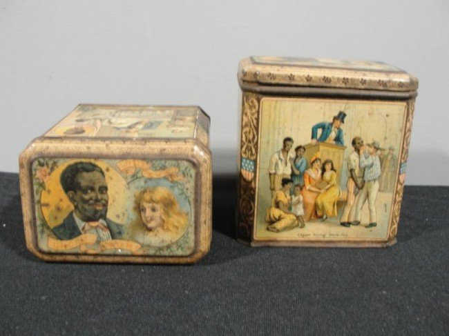 10: 2 Uncle Tom's Cabin Tobacco Boxes.