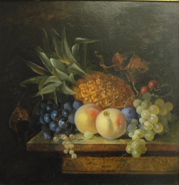 12: 19th Cent O/B French Fruit Still Life.