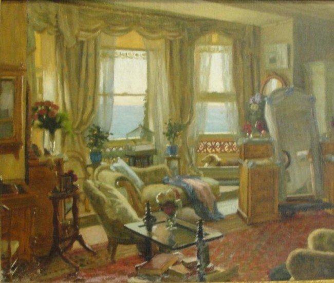 13: BURLEIGH, Ch. H.H. O/C of Seaside Interior Room