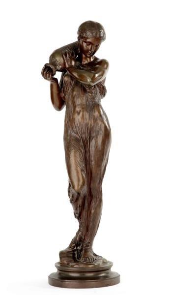 """17: DUMAIGE. H.E. Bronze Sculpture """"La Source"""""""