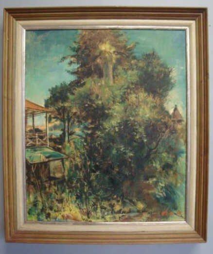 19: HLAVKA, Ladislav. 1954 O/C Landscape with Dacha
