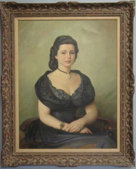 20: SILHAVY, Josef. 1949 Oil of Canvas of Czech Beauty