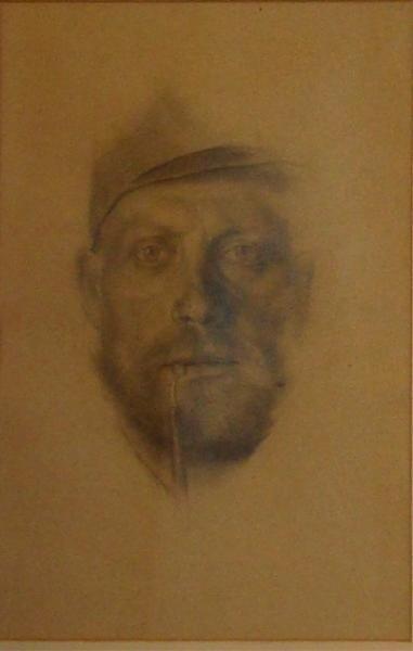 21: ZERLACHER, Ferdinand. 1918 Pencil Portrait