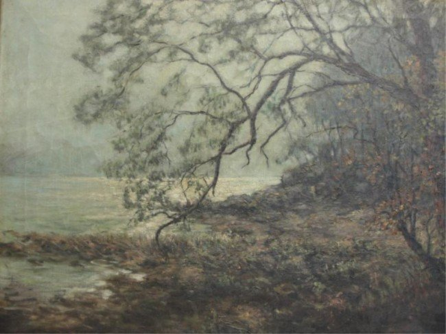 4: Signed Oil on Canvas Coastal Landscape.