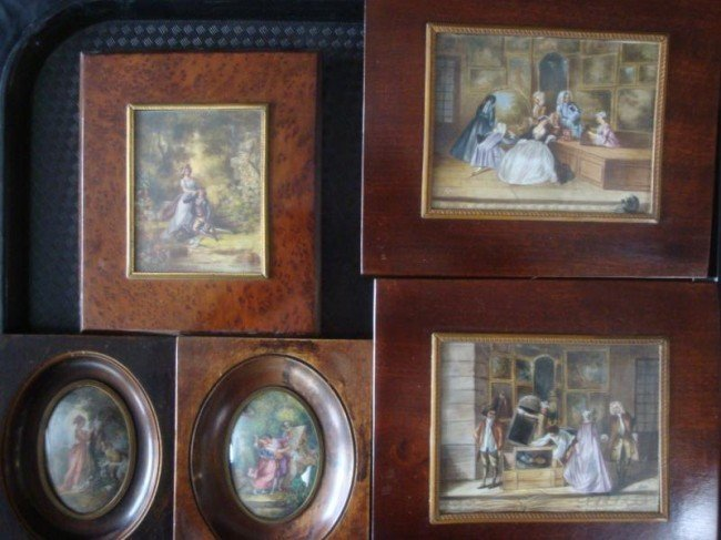 7: 5 Miniatures - Larger Pair of Painting Exhibition,