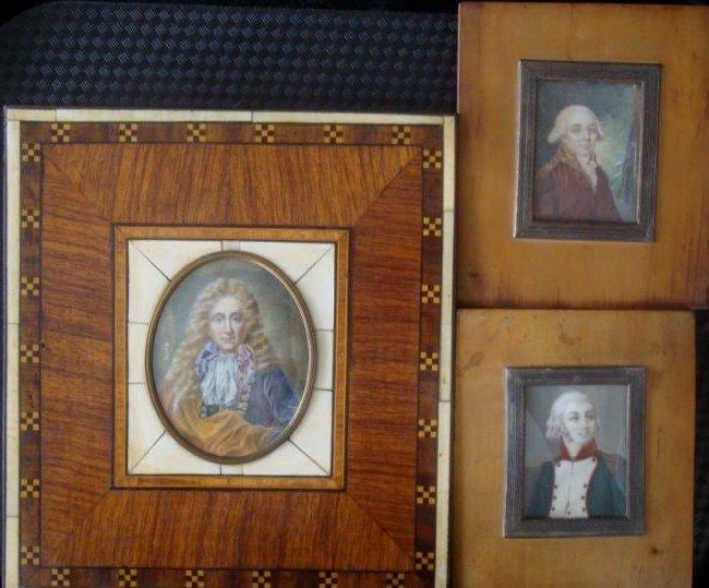 11: 3 Miniatures of Distinguished Men including
