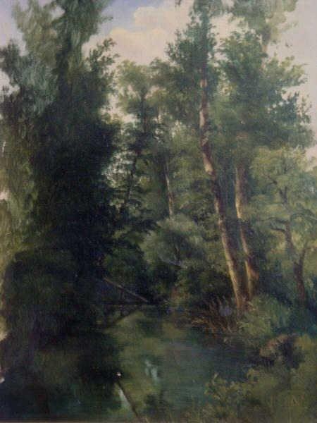 15: BERTIN, J.V.  O/C of Figure in Landscape