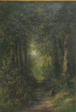 20: LEBAS,Gabriel Hippolyte. O/C of Woman in Landscape