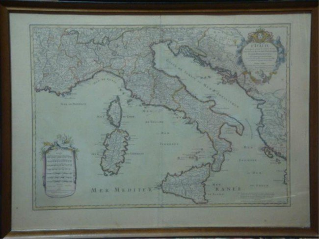 23: Map of Italy Dated 1783?