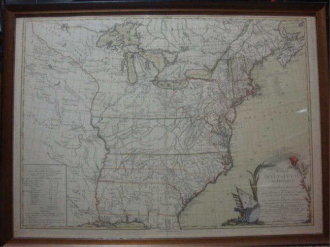 24: c.1800 French Map of Eastern United States.